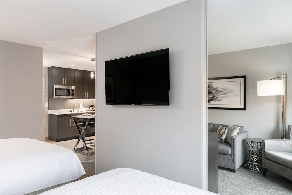 Living Area, Homewood Suites by Hilton Boston Logan Airport Chelsea
