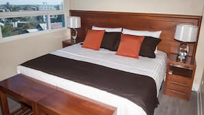 Premium bedding, pillowtop beds, in-room safe, free WiFi