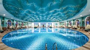 2 indoor pools, 10 outdoor pools, free cabanas, pool umbrellas