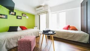 1 間臥室、高級寢具、房內夾萬、隔音