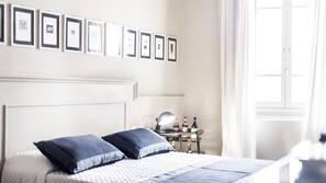 Frette Italian sheets, premium bedding, memory-foam beds, in-room safe