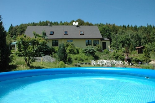 Beautiful Country House With Private Swimming Pool and Sauna in Forest Area of Karlova Hut