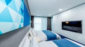 고급 침구, 오리/거위털 이불, 메모리폼 소재 침대, 무료 WiFi