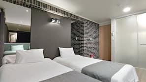 高級寢具、隔音、熨斗/熨衫板、免費 Wi-Fi