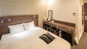 羽絨被、書桌、免費 Wi-Fi、床單