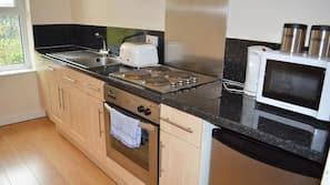 Microwave, coffee/tea maker, electric kettle
