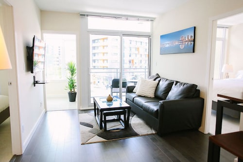 Check Expedia for Availability of Modern 2BR in Olympic Village by Sonder