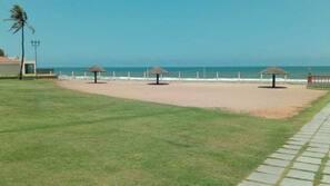 On the beach, beach volleyball