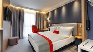 Ropa de cama hipoalergénica, caja fuerte, escritorio