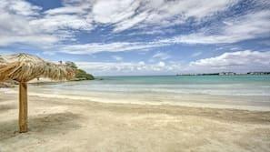 Private beach, beach massages