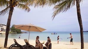 Playa privada y masajes en la playa