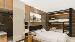 高級寢具、特厚豪華床墊、迷你吧贈品、保險箱