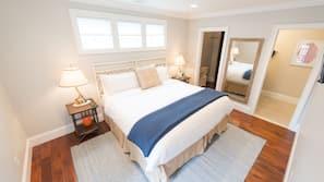 1 bedroom, premium bedding, down comforters, individually decorated