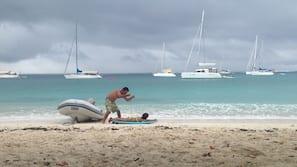 Private beach, white sand, scuba diving, snorkeling