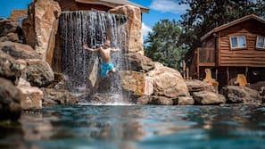 Indoor pool, seasonal outdoor pool, open 8 AM to 11 PM, free cabanas