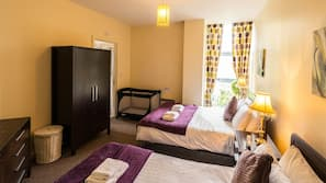 Iron/ironing board, free cots/infant beds, free WiFi, wheelchair access