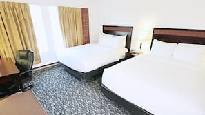 Pillow top beds, desk, iron/ironing board, free WiFi