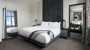 Premium bedding, pillow top beds, in-room safe, blackout curtains