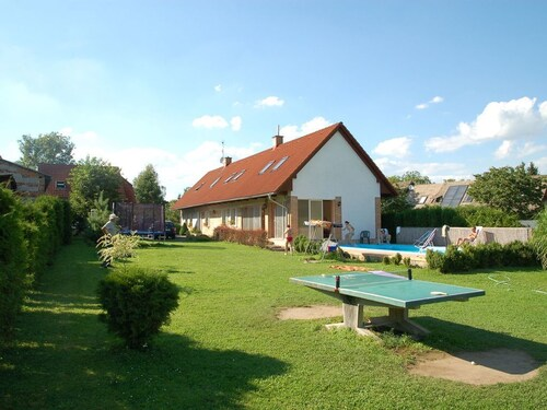 Holiday Home With Swimming Pool, Enclosed Garden, Outdoor Kitchen and Playground Equipment