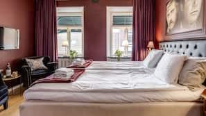 Hochwertige Bettwaren, individuell eingerichtet, Verdunkelungsvorhänge