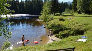 Tæt på stranden, roning/kanosejlads, fiskeri