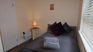 1 bedroom, desk, iron/ironing board, free wired internet