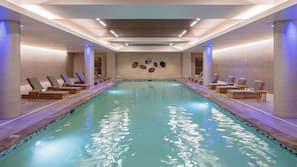 Indoor pool, open 6:00 AM to 10:00 PM, free cabanas