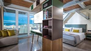 Minibar, desk, soundproofing, iron/ironing board
