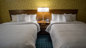In-room safe, iron/ironing board, free wired internet, alarm clocks
