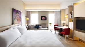 Premium bedding, pillow-top beds, free minibar, in-room safe