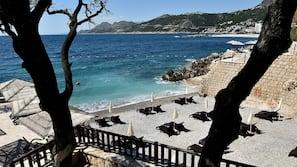Plage privée, bar de plage