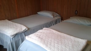 Individually furnished, bed sheets