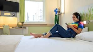 Roupas de cama antialérgicas, escrivaninha