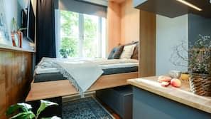Individuelt dekorert, blendingsgardiner, gratis wi-fi og sengetøy