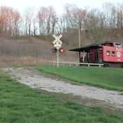 1926 B&o Caboose Centrally Located Within The Hocking Hills