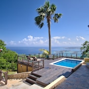 Private Villa W/breathtaking Views, Pool, Wi-fi, AC, Full Staff, Sleeps 10-12