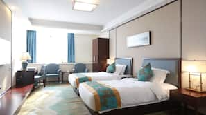Premium bedding, down duvet, pillow top beds, minibar