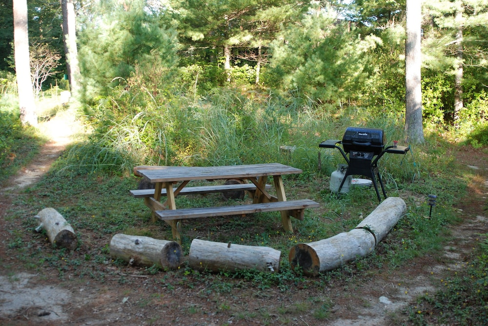 BBQ/Picnic Area, Waterfront Cabin on Long Pond