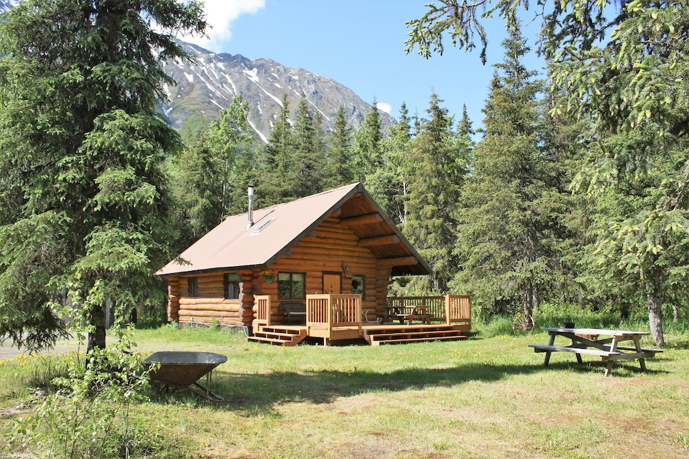 Upper Paradise Log Cabin Nightly Rental In The Woods Moose Pass