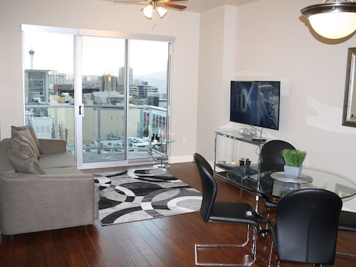 Check Expedia for Availability of Luxury Condo 12th Fl W/incredible View of Strip & Fremont St Downtown Las Vegas!