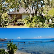 Poerani Moorea: Beautiful Polynesian Bungalow Facing The Lagoon - Up To 4 Pers