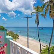 Beachfront Penthouse, Speightstown, Barbados, Stunning West Coast, Full AC