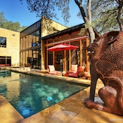 Bali Meets Austin In Artist's Spectacular, Private, Luxury Loft House