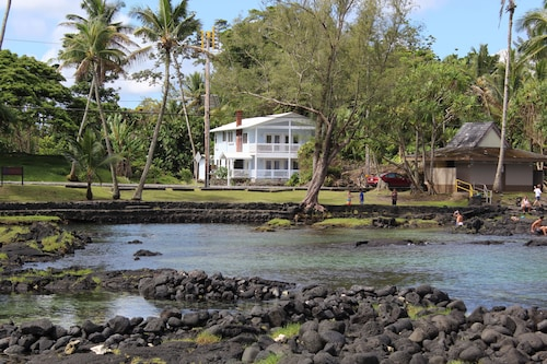 Hilo's Newest Richardson's Beach Park House. Best Loc. Snorkeling, Turtles