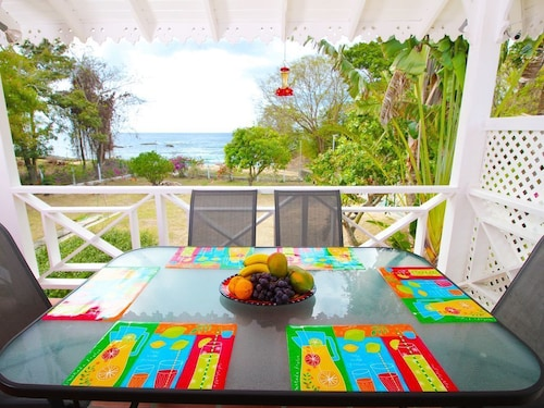 Sandy Bay Cottage - Beachfront Beauty With Breathtaking View of Caribbean Sea