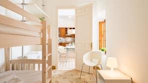 2 dormitorios, sistema de insonorización, wifi y ropa de cama