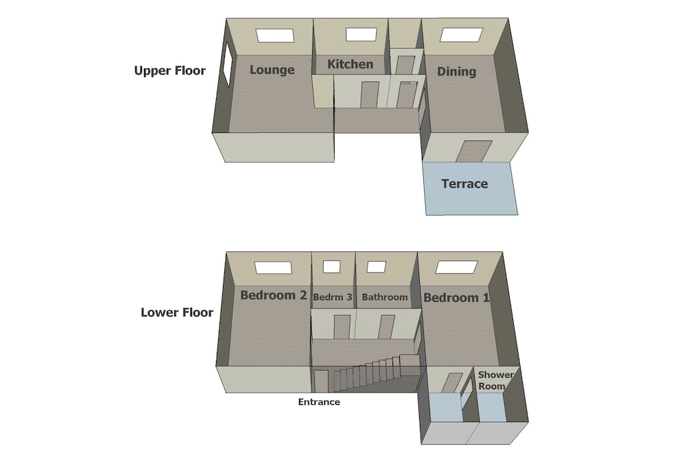 Floor plan, Atholl Cottage on Nairn Links: Sea View From all Rooms
