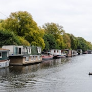 This Spacious Houseboat is Located on the