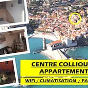 Apartment Standing Centre Collioure Wifi / Clim AND Patio
