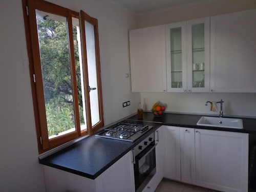 Private Kitchen, Small Natural Stone House Rustico in Italy With Magical Alpine and sea Views